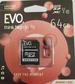 כרטיס זיכרון MICRO SD 64GB EVO קלאס 10 כולל מתאם